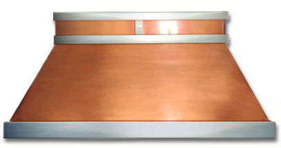 Copper and Stainless Steel Range Hood